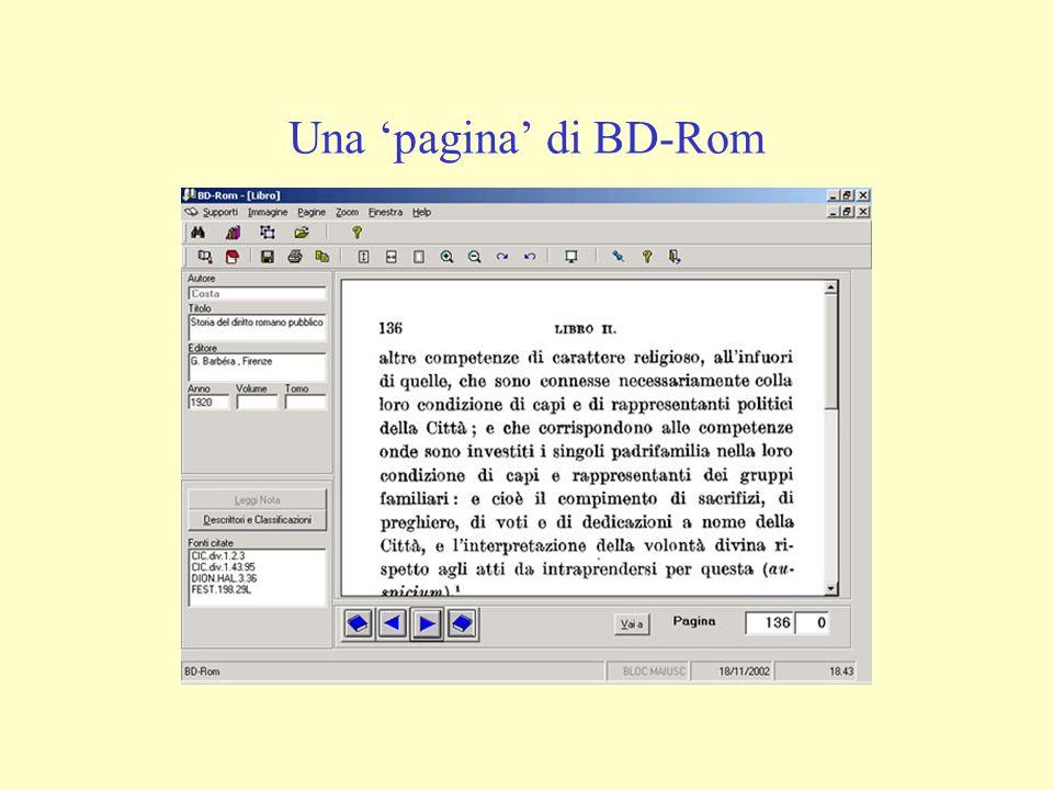 Una pagina di BD-Rom