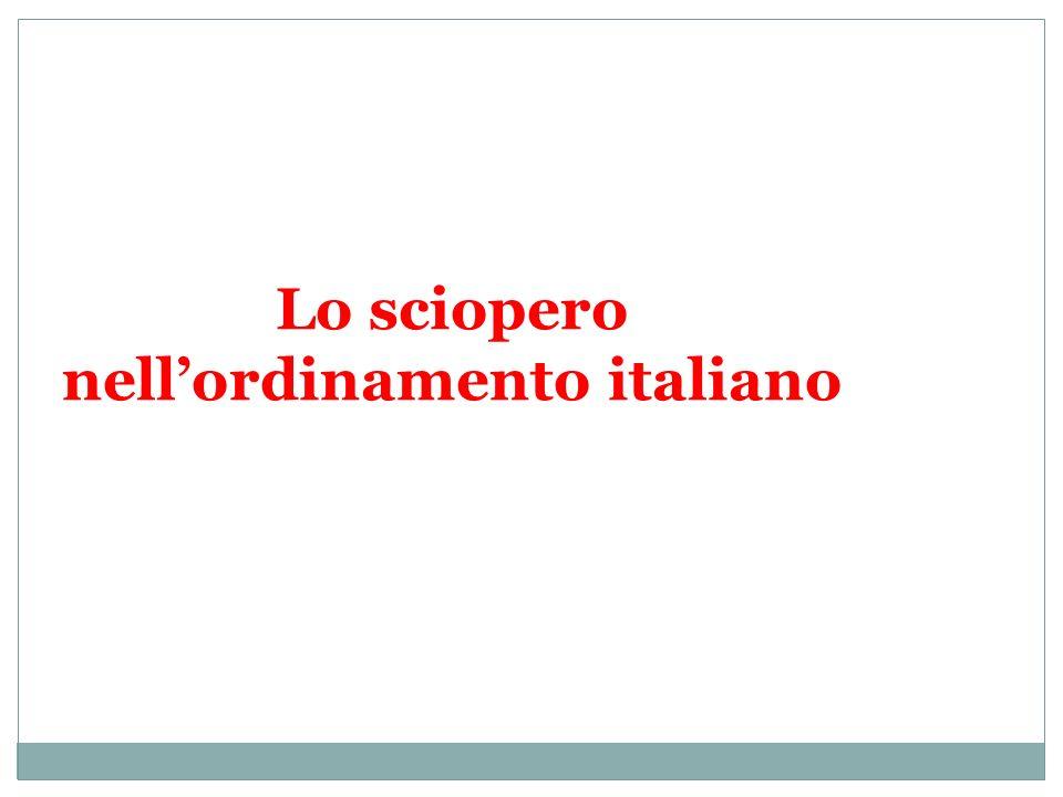 Lo sciopero nellordinamento italiano