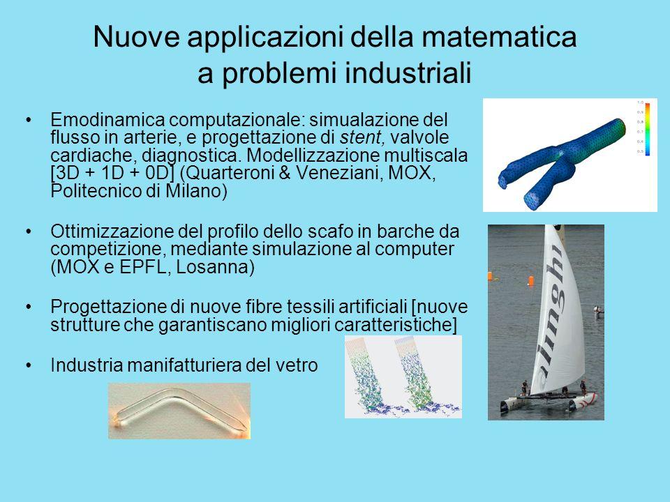 Nuove applicazioni della matematica a problemi industriali Emodinamica computazionale: simualazione del flusso in arterie, e progettazione di stent, v