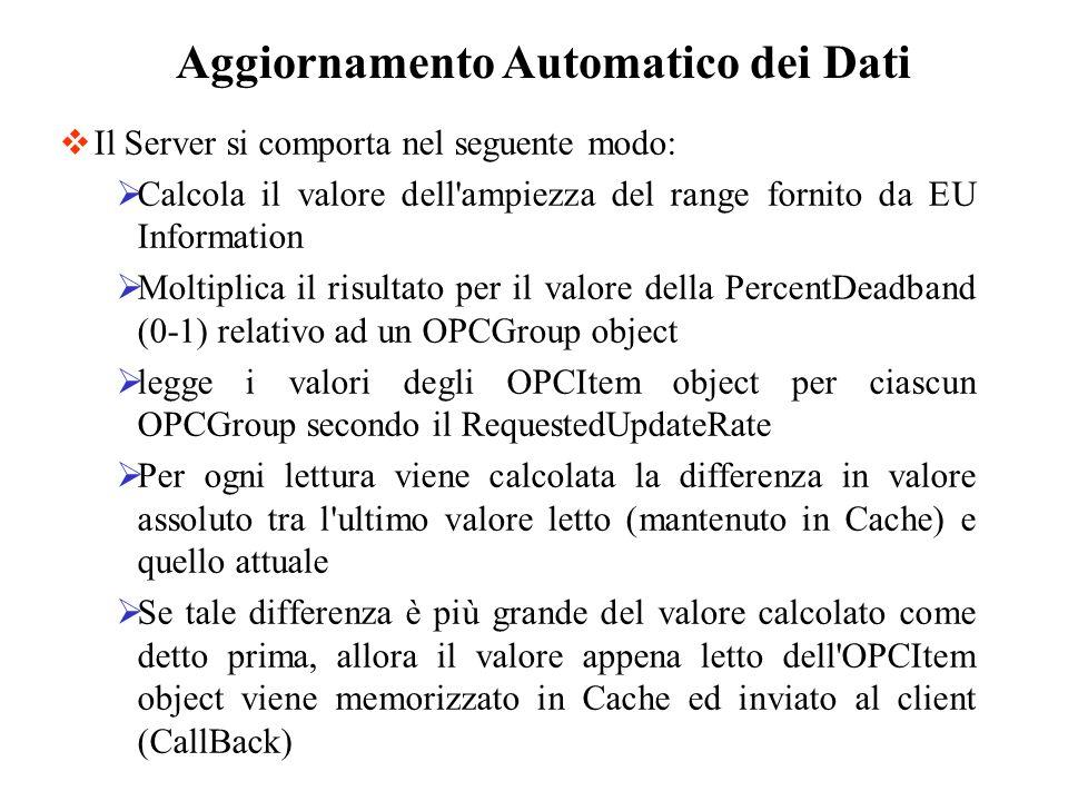 Il Server si comporta nel seguente modo: Calcola il valore dell'ampiezza del range fornito da EU Information Moltiplica il risultato per il valore del