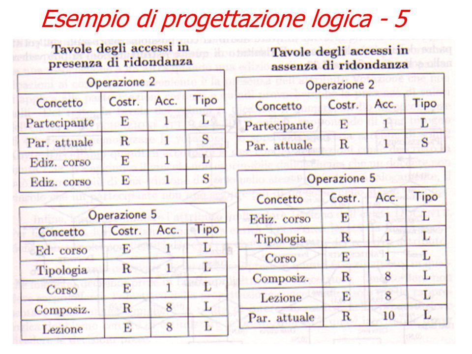 Esempio di progettazione logica - 4