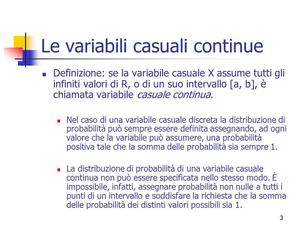 14 La Distribuzione Normale La v.c.