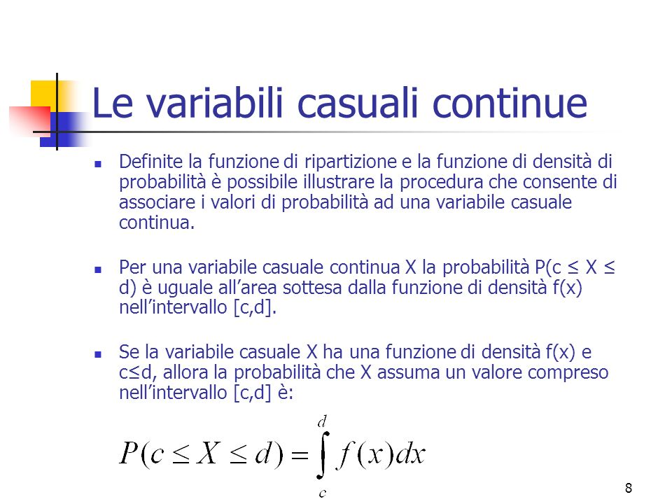 19 Valori attesi della Distribuzione Normale I due parametri della variabile casuale normale, detti pure valori attesi, cioè µ e σ 2, corrispondono alla media E(X) e varianza Var(X) della distribuzione.