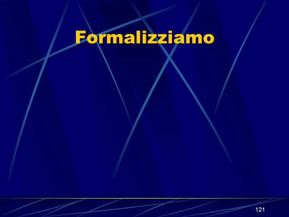121 Formalizziamo