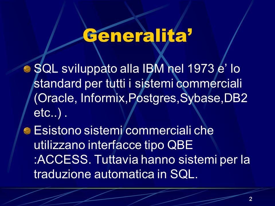 103 Uso di HAVING SQL> SELECT job, SUM(sal) PAYROLL 2 FROM emp 3 WHERE job NOT LIKE SALES% 4 GROUP BY job 6 ORDER BY SUM(sal); JOB PAYROLL --------- ANALYST 6000 MANAGER 8275 5 HAVING SUM(sal)>5000