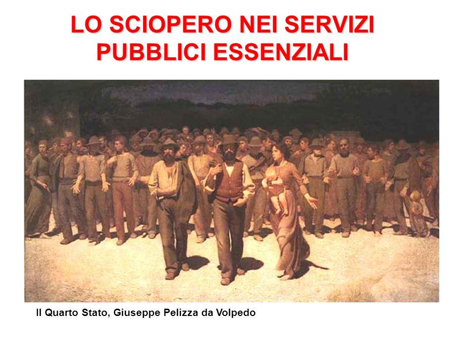 LO SCIOPERO NEI SERVIZI PUBBLICI ESSENZIALI LA SENTENZA n°344\1996 Il Quarto Stato, Giuseppe Pelizza da Volpedo