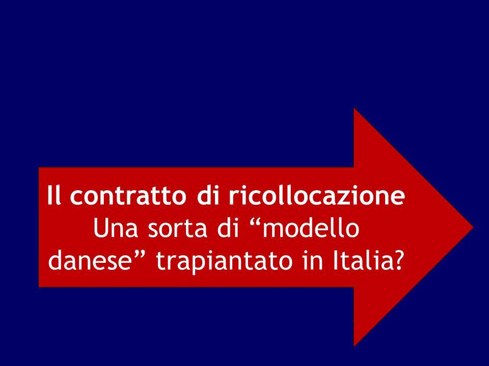 Il contratto di ricollocazione Una sorta di modello danese trapiantato in Italia?