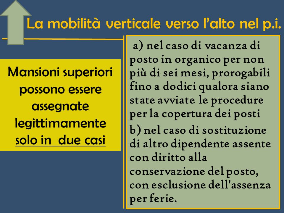 La mobilità verticale verso lalto nel p.i.