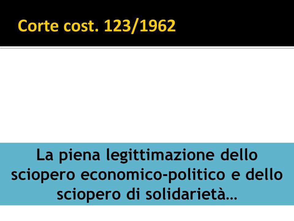 La piena legittimazione dello sciopero economico-politico e dello sciopero di solidarietà…