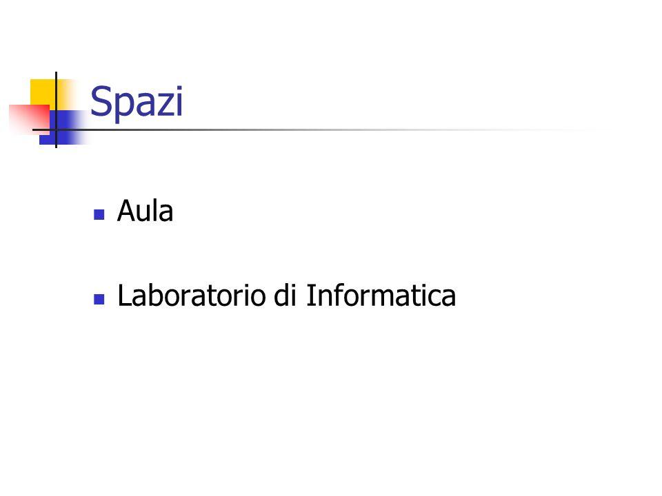 Spazi Aula Laboratorio di Informatica