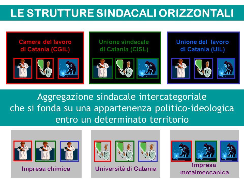 Seconda variante Strutture sindacali orizzontali Strutture sindacali verticali