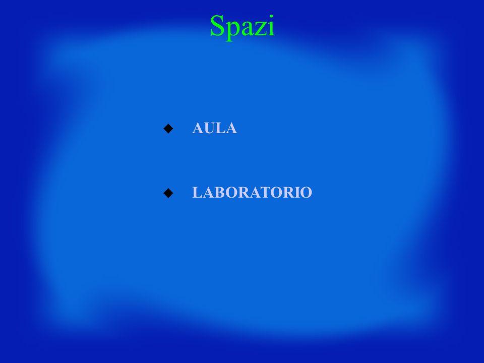 AULA LABORATORIO Spazi