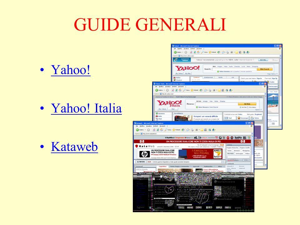 GUIDE GENERALI Yahoo! Yahoo! Italia Kataweb