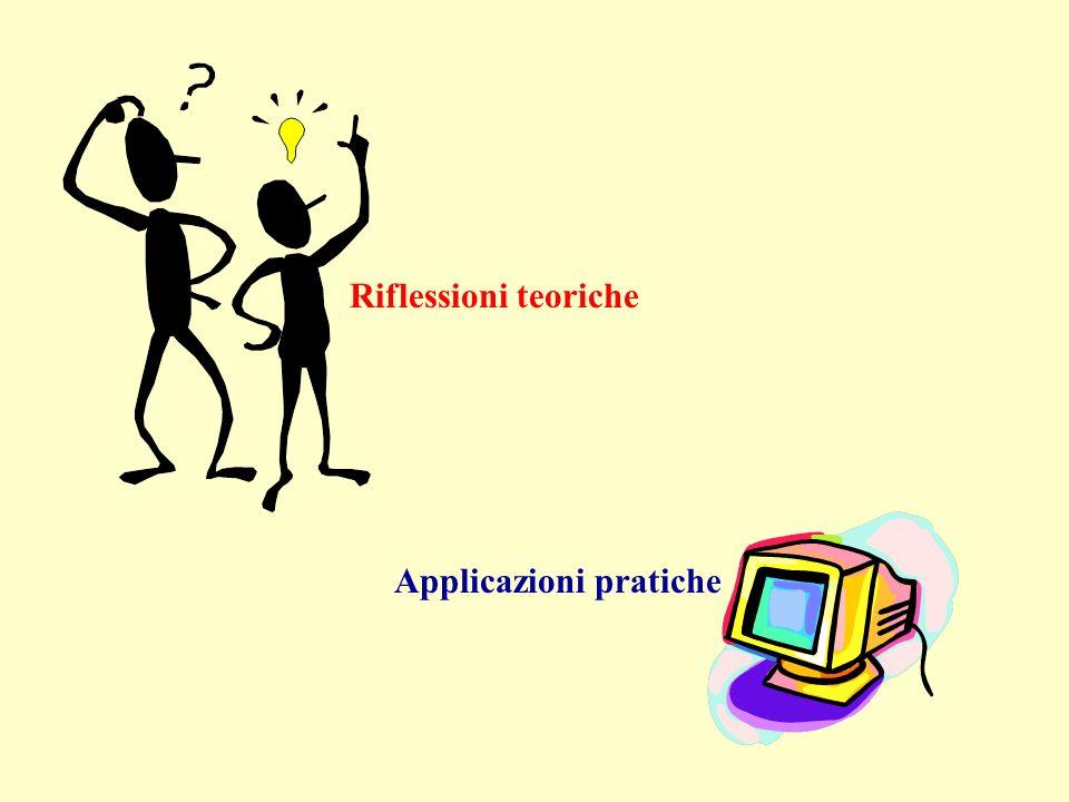 Riflessioni teoriche Applicazioni pratiche