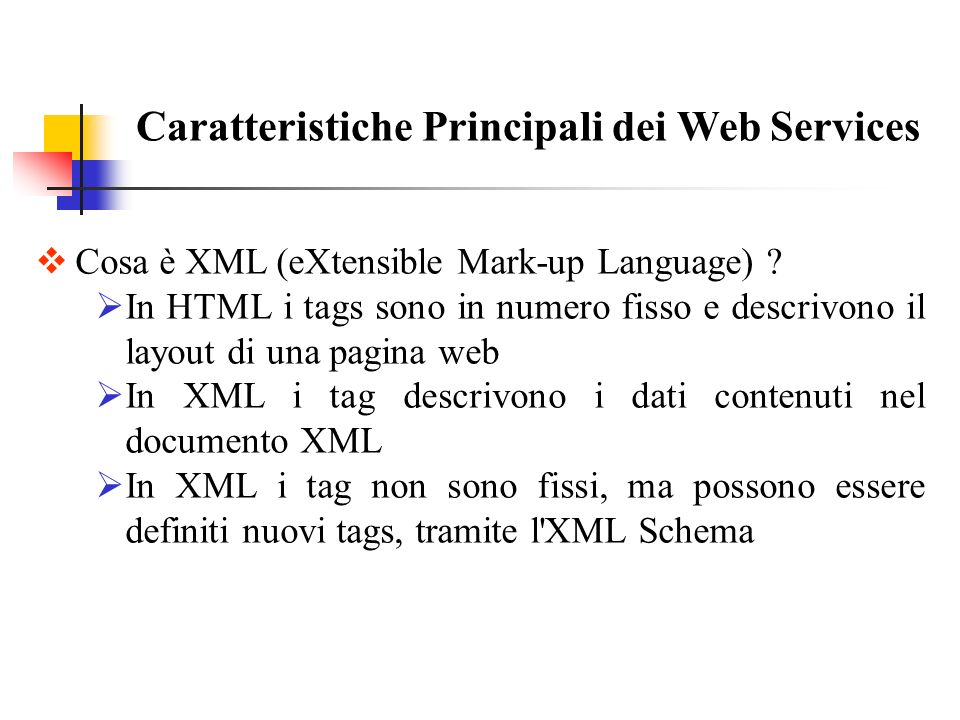 Cosa è XML (eXtensible Mark-up Language) .