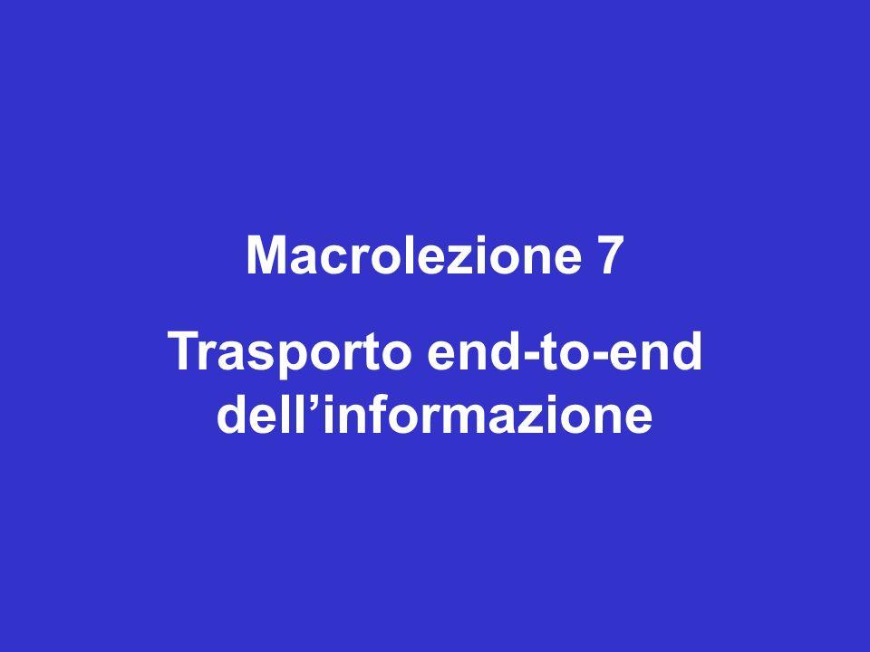 Macrolezione 7 Trasporto end-to-end dellinformazione