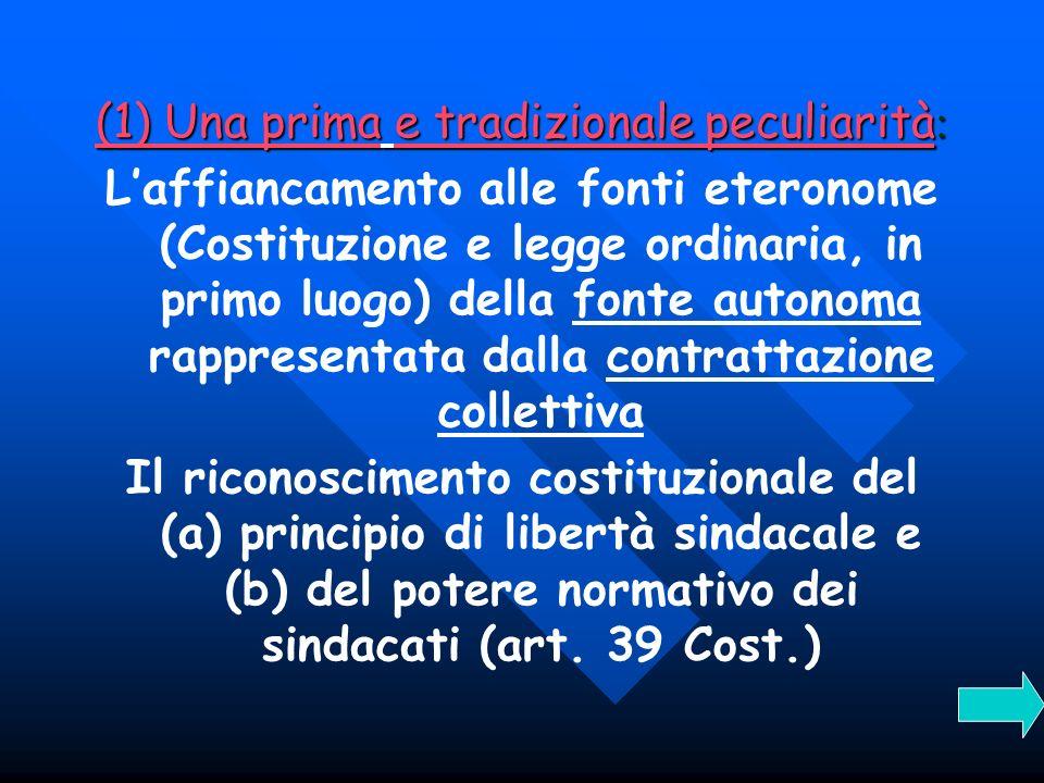 Il principio costituzionale di libertà sindacale Lorganizzazione sindacale è libera (art.