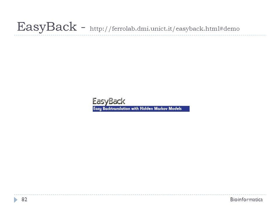 EasyBack - http://ferrolab.dmi.unict.it/easyback.html#demo Bioinformatica82