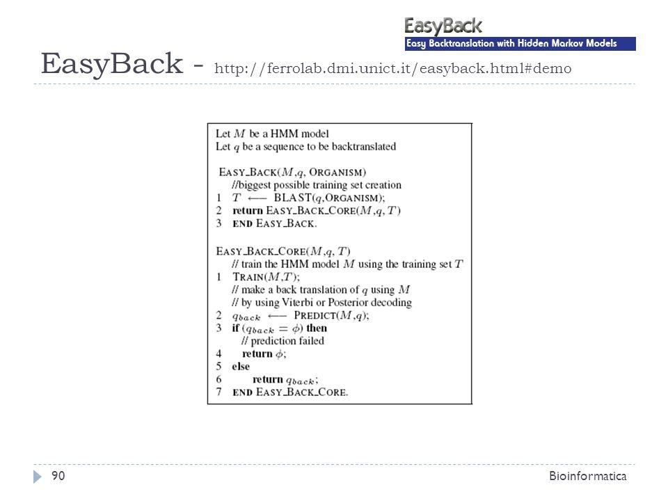 EasyBack - http://ferrolab.dmi.unict.it/easyback.html#demo Bioinformatica90