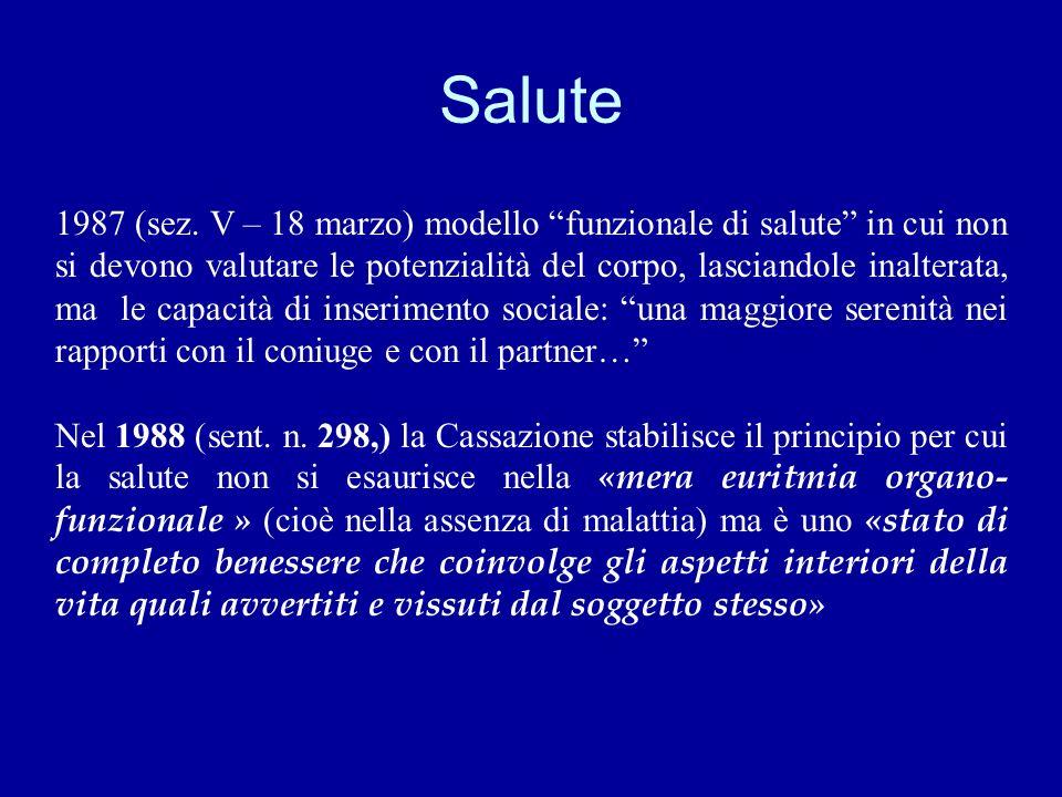 caso «Massimo» ASSISE FIRENZE, 26.6.1991 il difetto di informazione era aconsiderato come concausa della reazione psicologica nociva Costituisce lesio