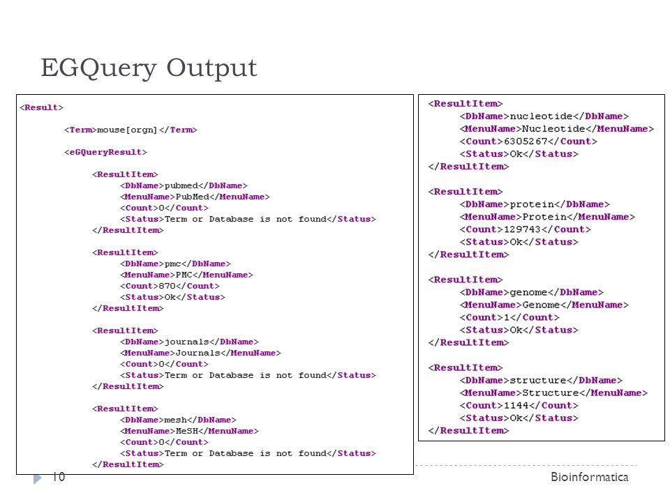 EGQuery Output Bioinformatica10