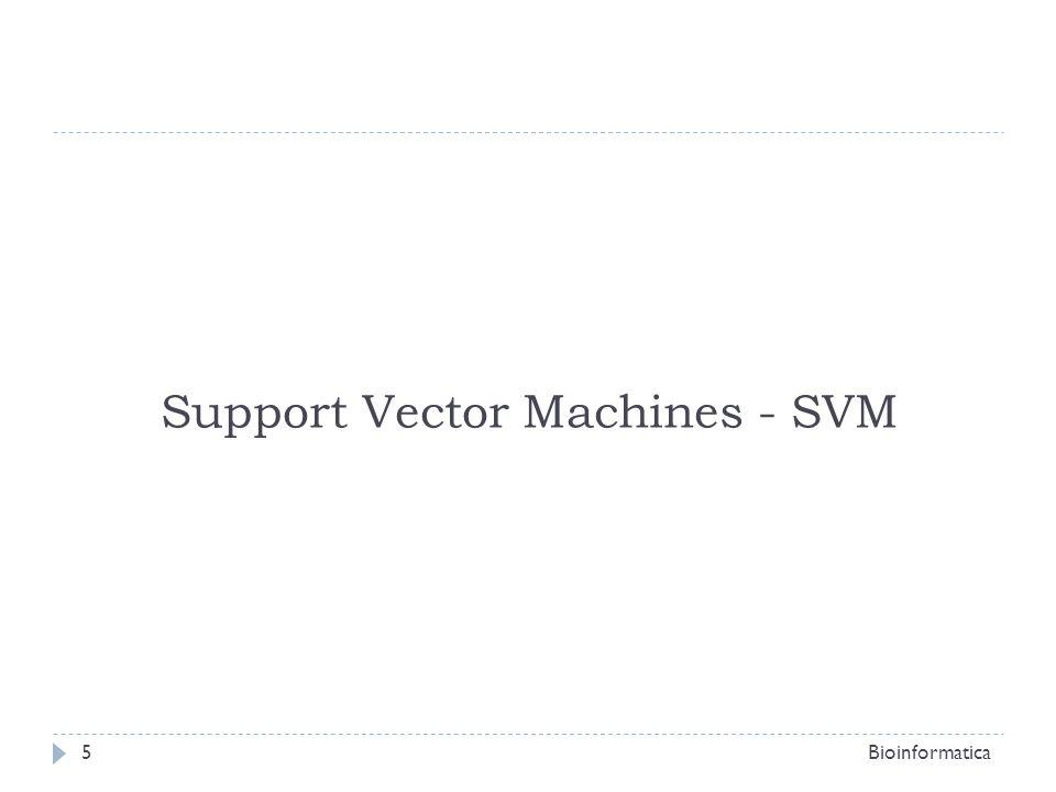 Support Vector Machines - SVM Le SVM machines sono state sviluppate negli AT&T Bell Laboratories da Vapnik e Chervonenkis; Prime applicazioni: OCR (optical character recognition); Riconoscimento di oggetti [Blanz et al., 1996]; Indentificazione di oratori [Schmidt, 1996]; Identificazione di facce in immagini [Osuna, et al.