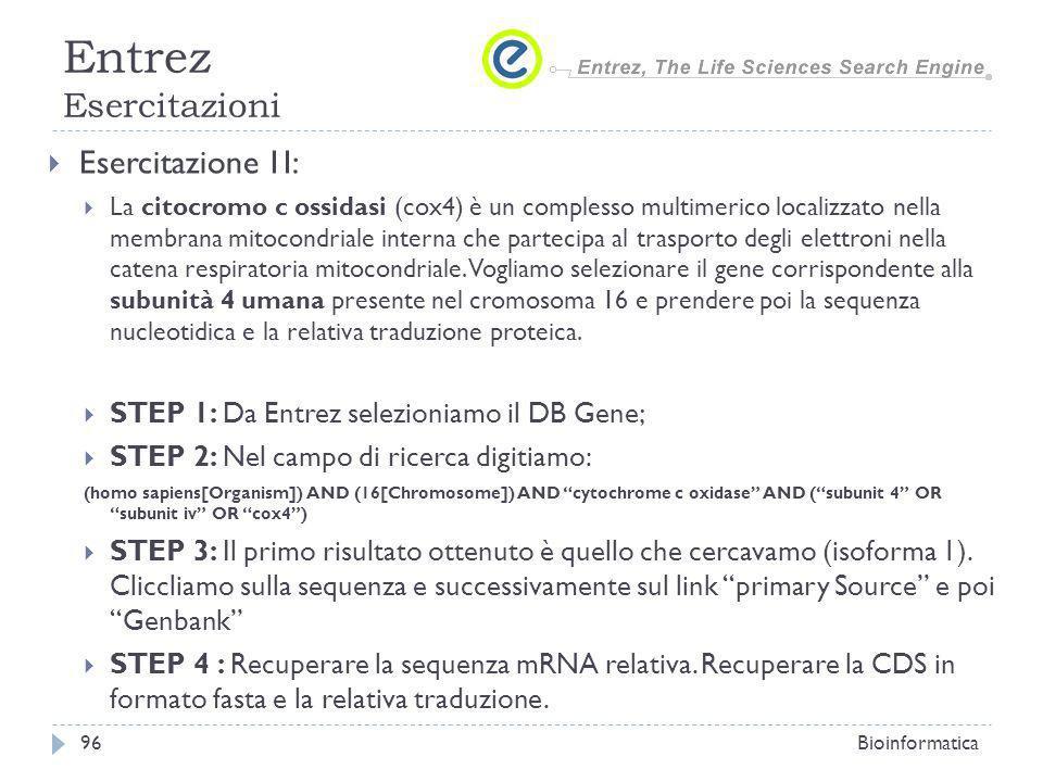 Esercitazione 1I: La citocromo c ossidasi (cox4) è un complesso multimerico localizzato nella membrana mitocondriale interna che partecipa al trasport
