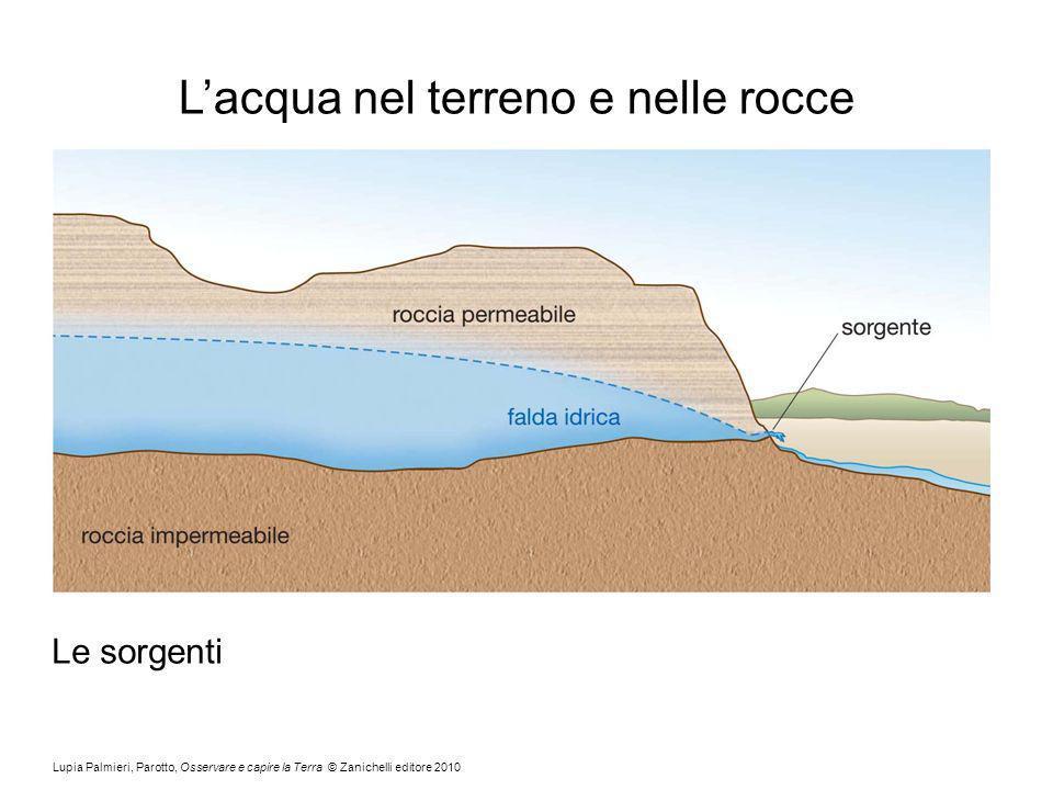 Lupia Palmieri, Parotto, Osservare e capire la Terra © Zanichelli editore 2010 Lacqua nel terreno e nelle rocce Le sorgenti