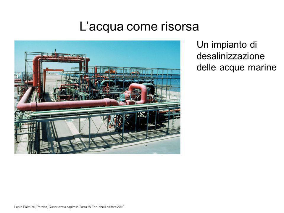 Lupia Palmieri, Parotto, Osservare e capire la Terra © Zanichelli editore 2010 Lacqua come risorsa Un impianto di desalinizzazione delle acque marine