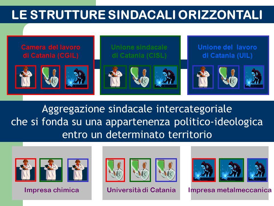 Il secondo tipo: la struttura organizzativa dei sindacati dei lavoratori in ambito nazionale (verticale; orizzontale) La confederazione (Es.: CGIL, CI