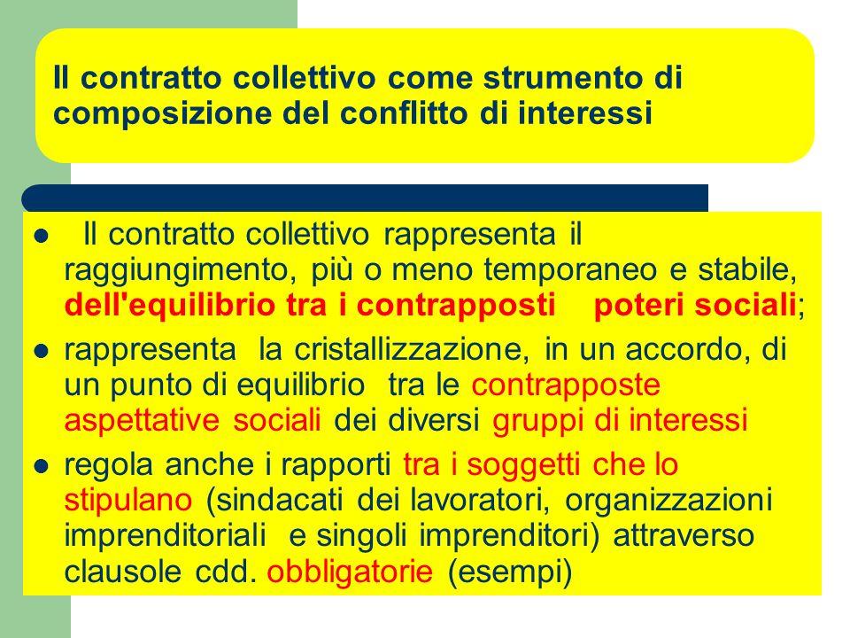 La contrattazione collettiva ed il contratto collettivo: il contratto collettivo come atto la contrattazione collettiva come attività a ) Contrattazio