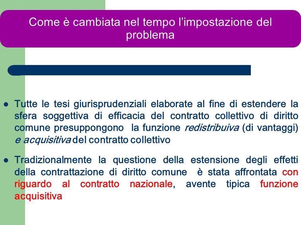 richiesta Il problema non è la richiesta di applicazione del contratto, - come per i contratti incrementali - ma la fuga dallo stesso.