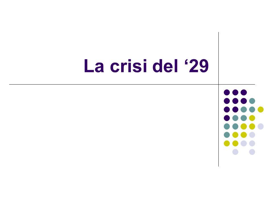 La crisi del 29