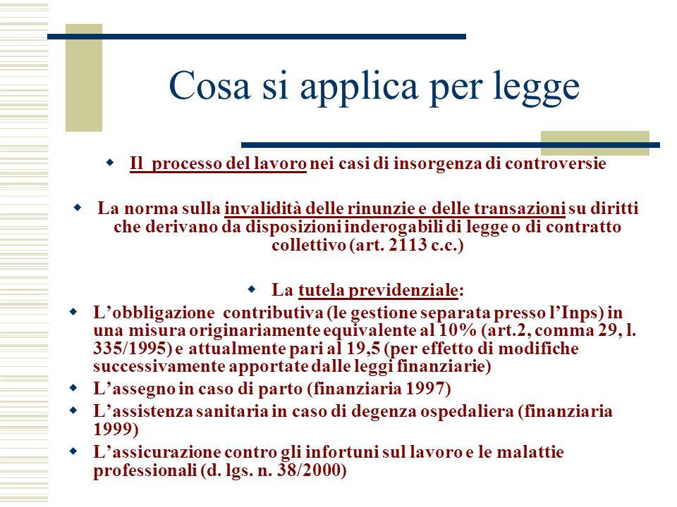 Cosa si applica per legge Il processo del lavoro nei casi di insorgenza di controversie La norma sulla invalidità delle rinunzie e delle transazioni s