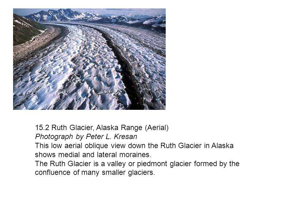 15.2 Ruth Glacier, Alaska Range (Aerial) Photograph by Peter L. Kresan This low aerial oblique view down the Ruth Glacier in Alaska shows medial and l