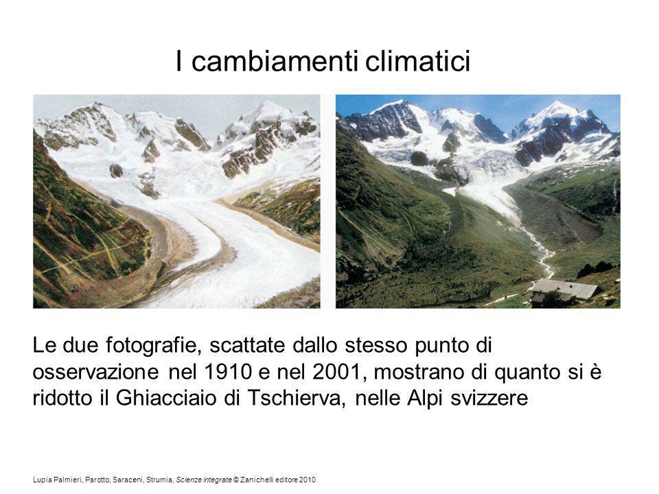 Lupia Palmieri, Parotto, Saraceni, Strumia, Scienze integrate © Zanichelli editore 2010 I cambiamenti climatici Le due fotografie, scattate dallo stes