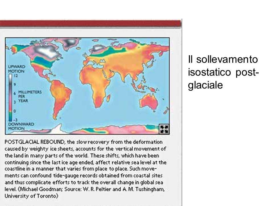 Il sollevamento isostatico post- glaciale