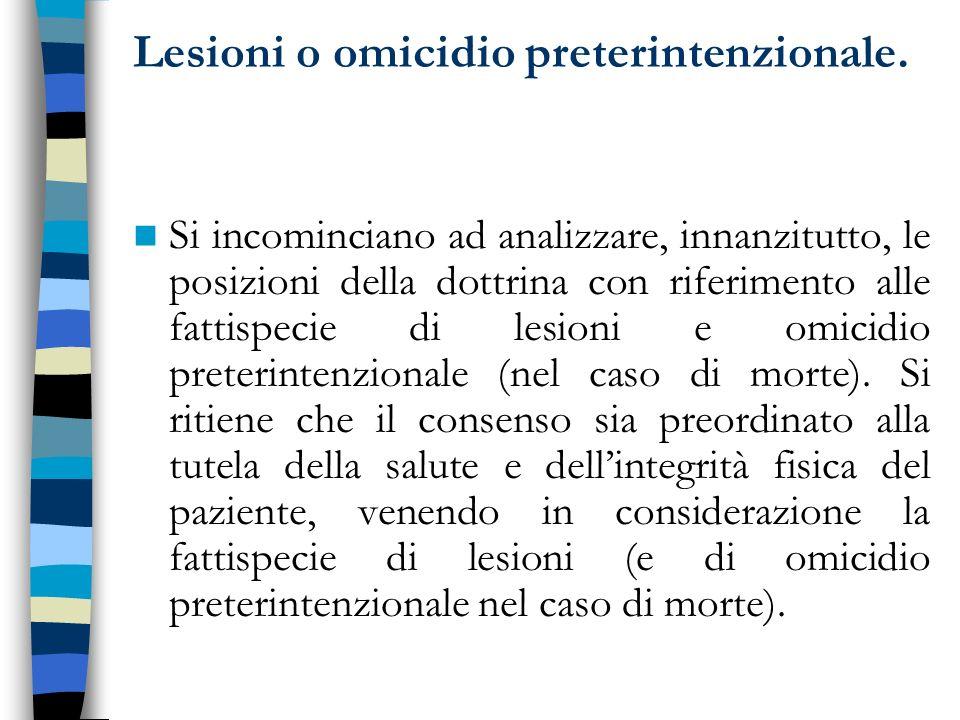 Caso Massimo 1992 In tale direzione non è chiarissima la sentenza Cass.