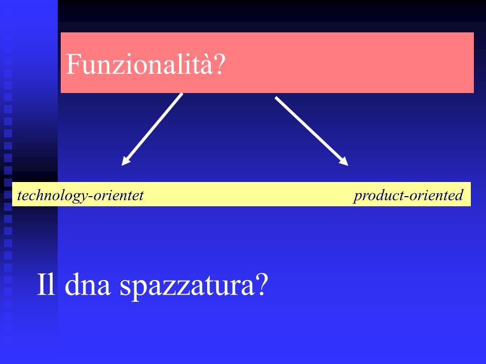Funzionalità technology-orientet product-oriented Il dna spazzatura