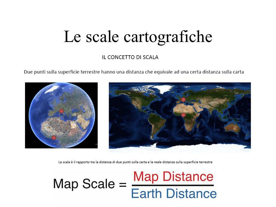 Non sono rappresentazioni fedeli della terra, bensì: Ridotte, perché qualsiasi porzione di Terra non può essere riprodotta nella sua grandezza naturale.