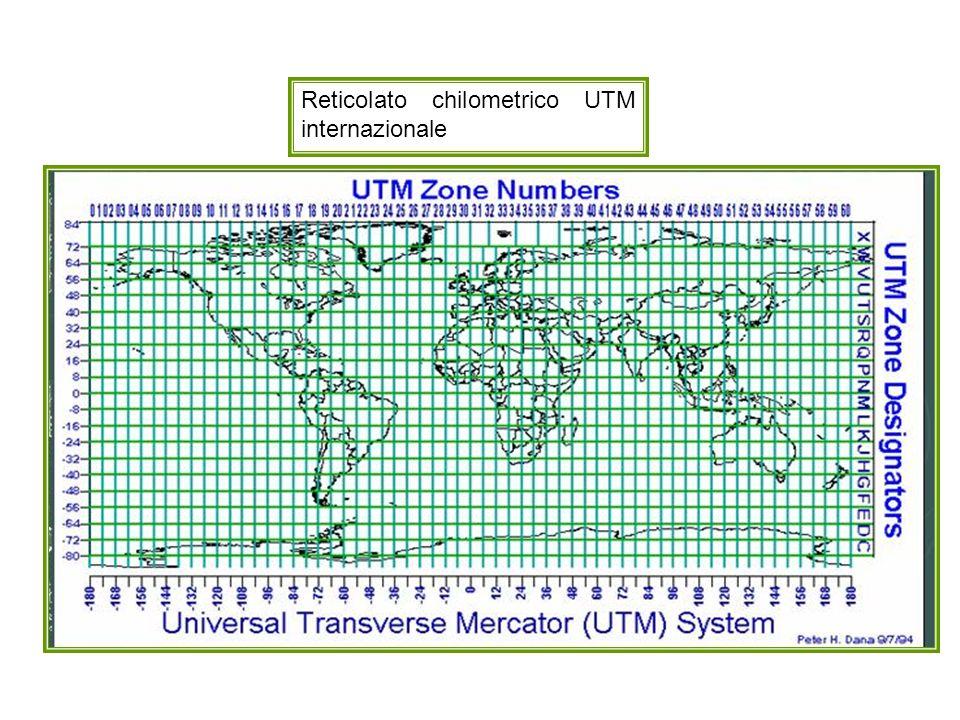 Sistema U.T.M. Fusi, fasce, zone, quadrati di 100 km di lato della regione italiana