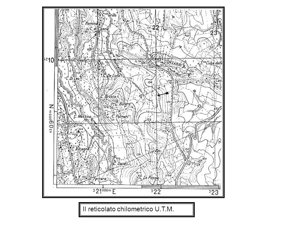 Le coordinate geografiche 1) Sulla carta, per determinare la posizione assoluta di un punto sulla superficie terrestre si fa riferimento ad un insieme di linee a direzione nord-sud, i meridiani, ed est-ovest, i paralleli, che formano il reticolato geografico sul quale si possono calcolare le coordinate geografiche.