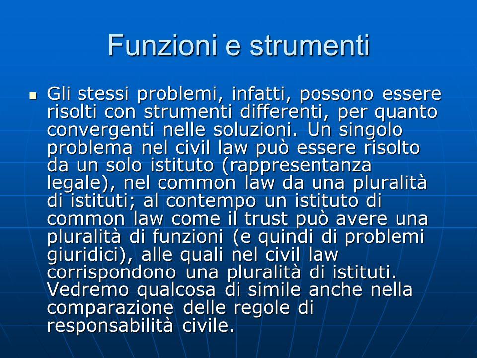 Funzioni e strumenti Gli stessi problemi, infatti, possono essere risolti con strumenti differenti, per quanto convergenti nelle soluzioni. Un singolo