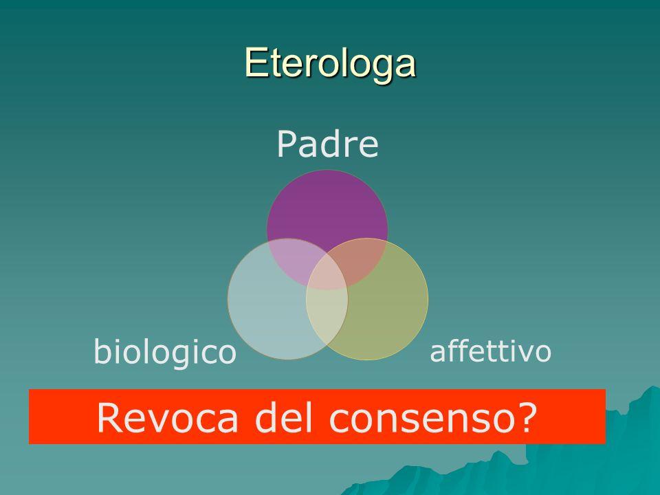 Eterologa Padre affettivobiologico Revoca del consenso?