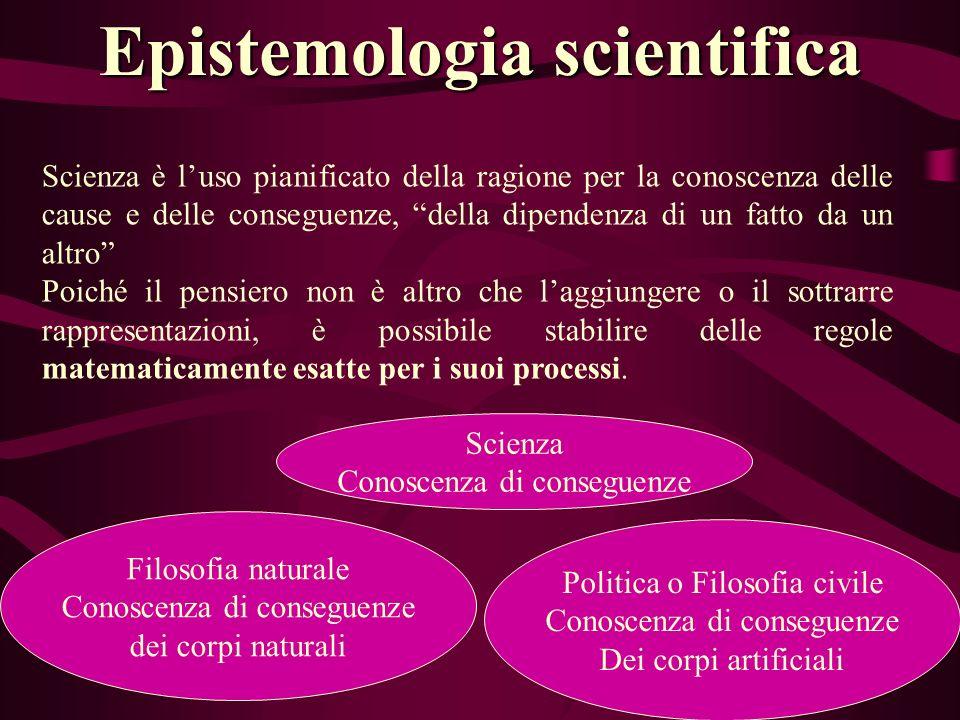 Epistemologia scientifica Scienza è luso pianificato della ragione per la conoscenza delle cause e delle conseguenze, della dipendenza di un fatto da
