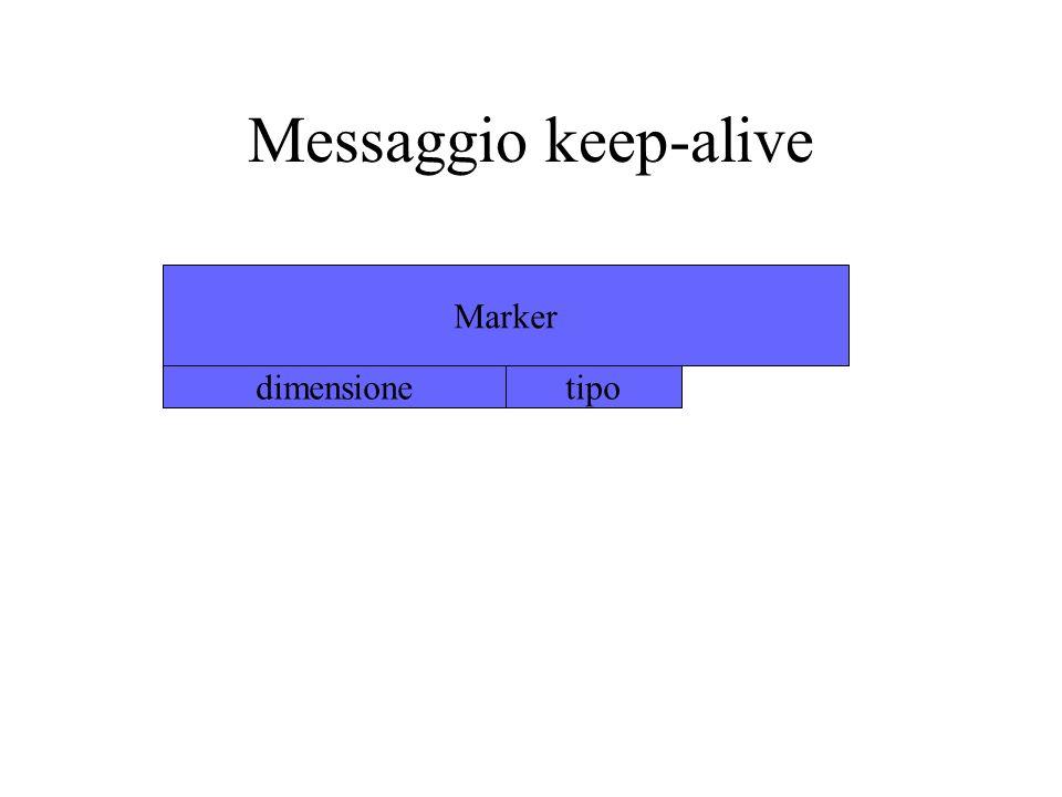 Messaggio keep-alive Marker dimensionetipo