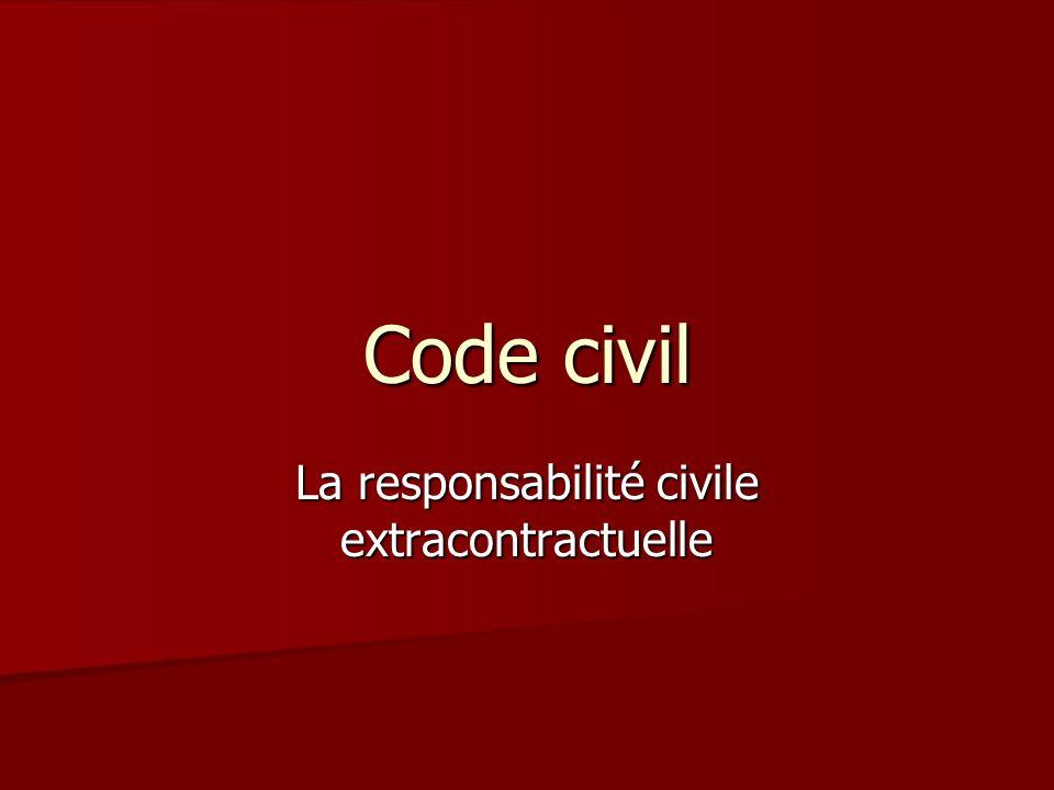 Code civil La responsabilité civile extracontractuelle