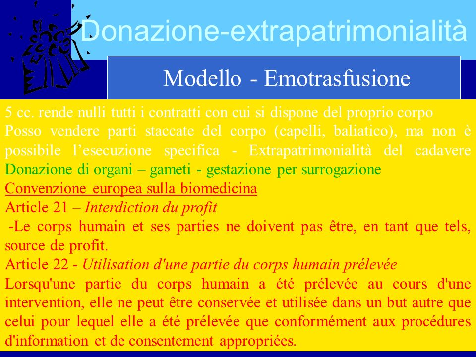 Donazione-extrapatrimonialità Modello - Emotrasfusione 5 cc.