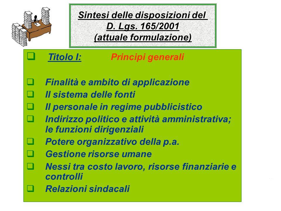 Titolo I: Principi generali Art.1, commi 1 e 2 D.