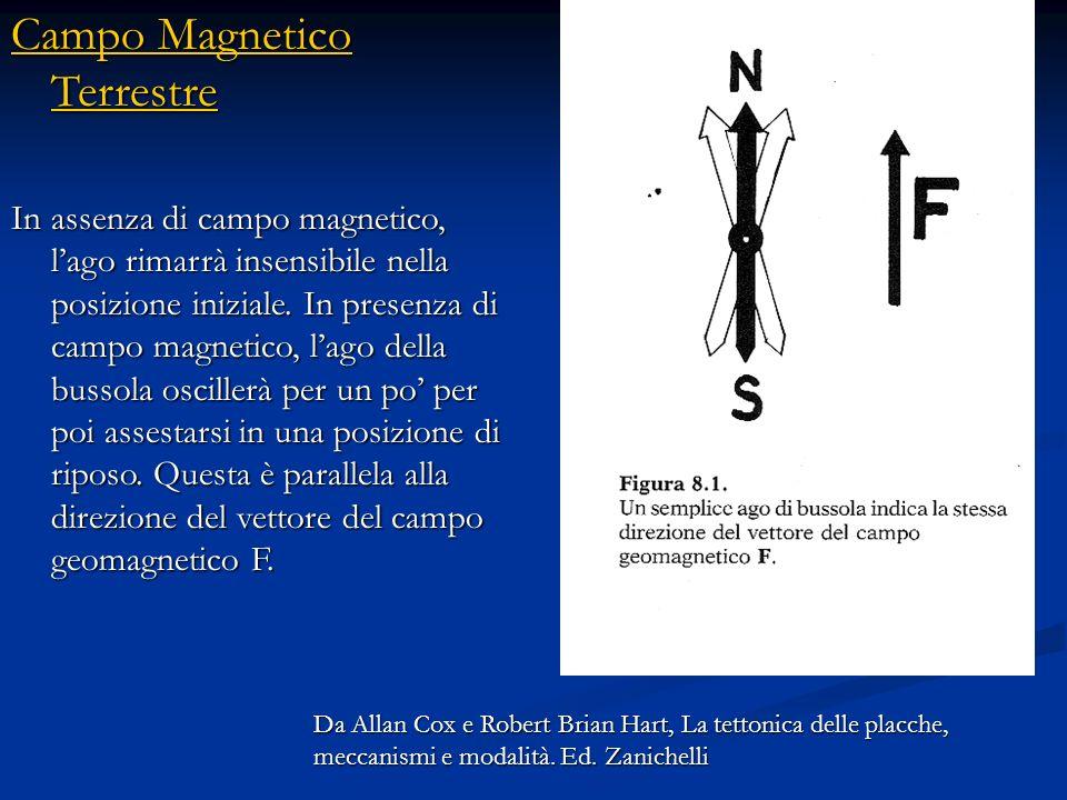 Campo Magnetico Terrestre Campo Magnetico Terrestre Se siete empirici, la risposta è semplice: si fa un esperimento. Lesperimento più semplice è mette